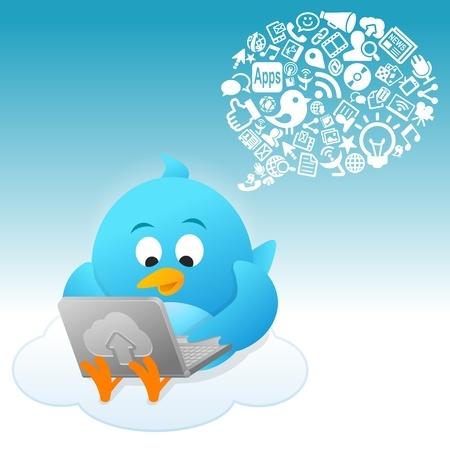 Twitter Bird growing a following