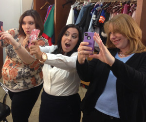 Teaching the Ghost Gals how to take a #selfie