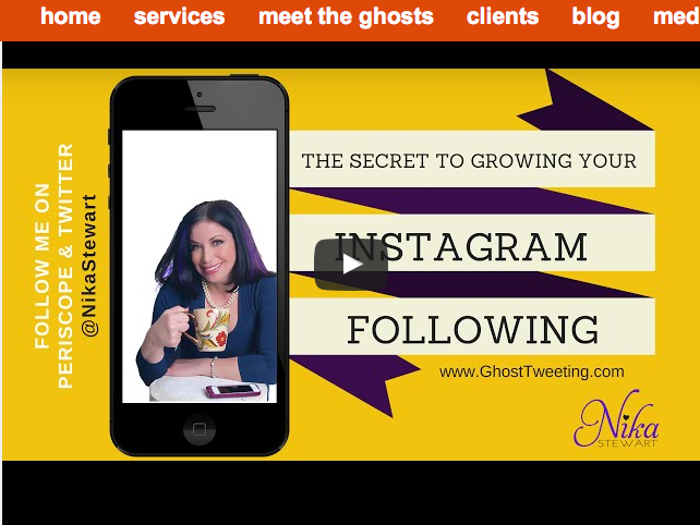the secret to grow your Instagram following