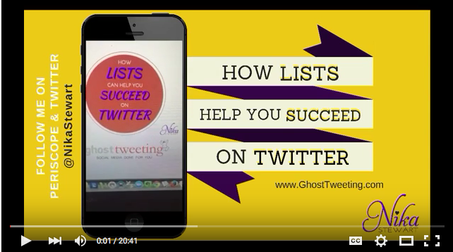 How Twitter Lists help you succeed