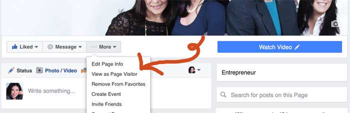 New Facebook Page Layout look